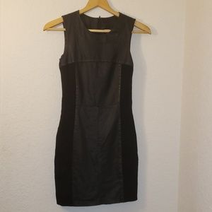 My Tribe Black Half Leather Dress